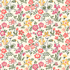 Liberty  Fabric - Lawn Games Peach