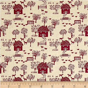 Liberty  Fabric - Cottage Lane Dark Pink