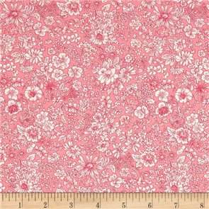 Liberty  Fabric - Emily Silhouette Pink