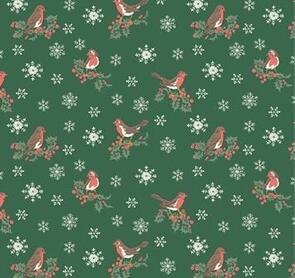 Liberty Christmas Jolly Robin (Green) - LB0477.5747B