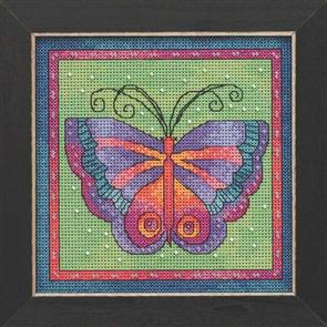 Mill Hill  Bead & Cross Stitch Kits: Butterfly Lime