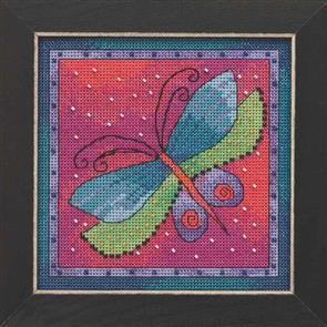 Mill Hill  Bead & Cross Stitch Kits: Dragonfly Fuchsia