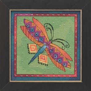 Mill Hill  Bead & Cross Stitch Kits: Dragonfly Lime