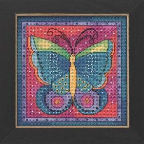 Mill Hill  Bead & Cross Stitch Kit: Butterfly Fuchsia