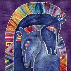 Mill Hill  Bead & Cross Stitch Kit: Embracing Horses