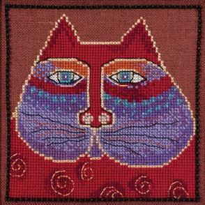 Mill Hill  Bead & Cross Stitch Kit: Red Cat