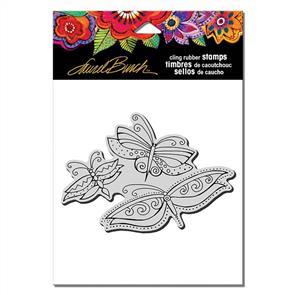Laurel Burch  Rubber Stamps - Flutterbye Trio