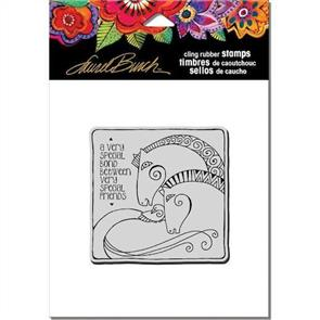 """Laurel Burch Cling Stamp - Aquatic Horses - 4.75"""" x 4.5"""""""