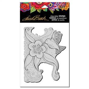 Laurel Burch  Rubber Stamp - Hummingbird Blossom