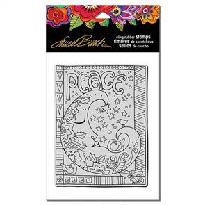 Laurel Burch  Rubber Stamps - Peace Moon