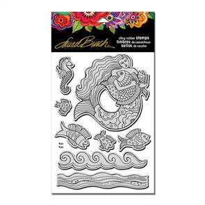 Laurel Burch  Rubber Stamps - Mermaid Fish Set