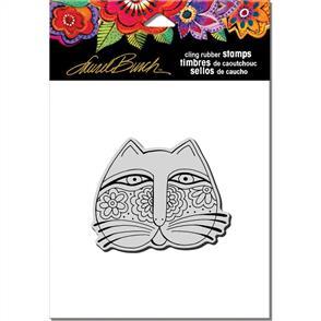 Laurel Burch Rubber Stamp - Feline Face
