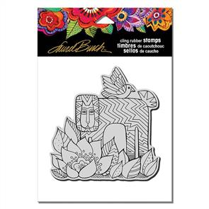 Laurel Burch Rubber Stamps - Lion with Bird