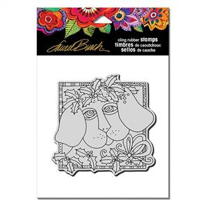 Laurel Burch Rubber Stamps - Holly Pup