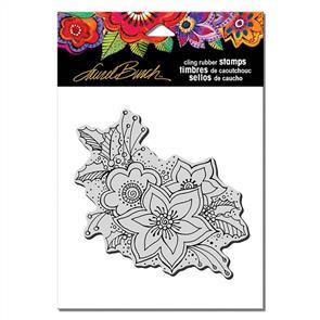 Laurel Burch Rubber Stamps - Festive Flora