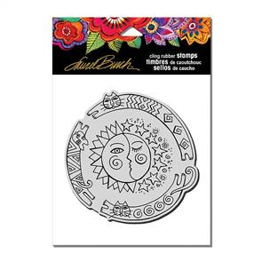 Laurel Burch Rubber Stamps -Sun Chase