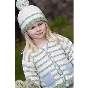 Lisa F  Little Cupcakes LF02 Stripe Cardigan with Patch Pockets