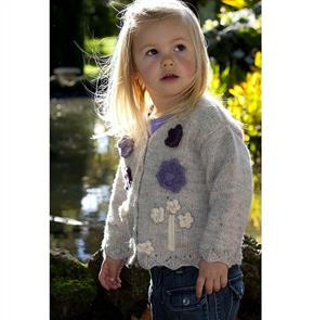 Lisa F  Little Cupcakes LF10 Appliqued Flower Cardigan With lace