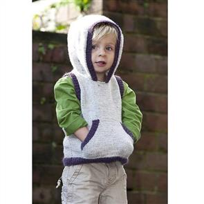 Lisa F  Little Cupcakes LF15 Hooded Vest with Patch Pocket