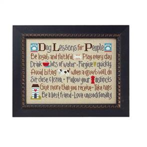Lizzie Kate Cross Stitch Chart - Dog Lessons For People