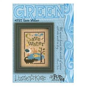 Lizzie Kate  Cross Stitch Chart - Save Water