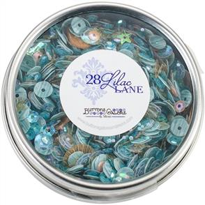28 Lilac Lane Tin W/ Sequins 40g - Seaside Holiday