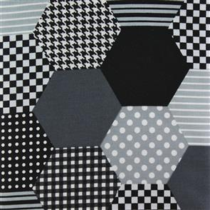 Lecien  Modern Quilts - Hexagon Multi Grey