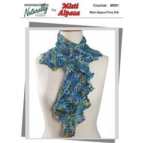 Naturally M001 Crochet Scarf