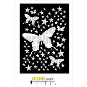 Carabelle  Stencil - Butterflies Background