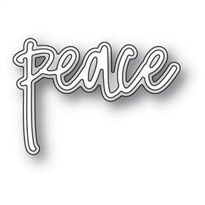 Memory Box  Dies - Peace Jotted Script