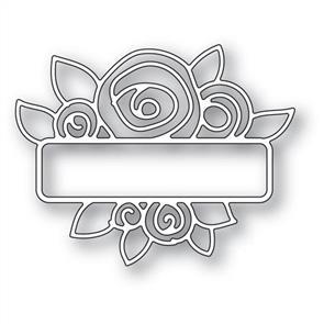 Memory Box  Die - Antique Rose Cluster Label