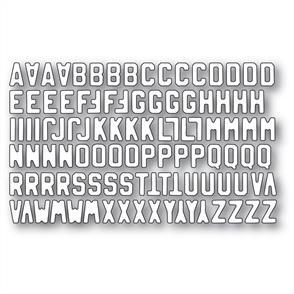 Memory Box  Die - Mini Vintage Varsity Alphabet