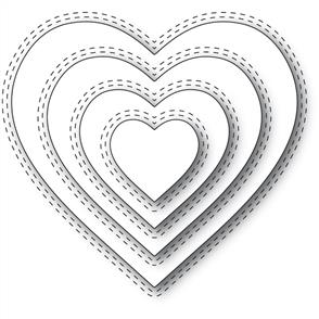 Memory Box Die - Double Stitched Heart
