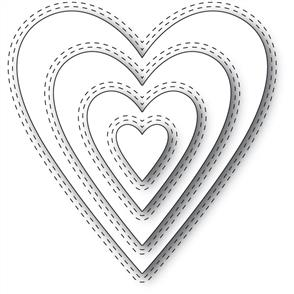 Memory Box  Die - Double Stitched Happy Heart
