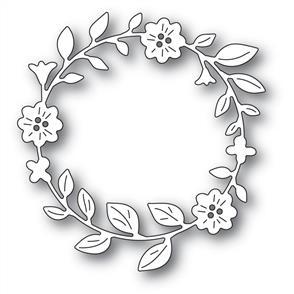 Memory Box  Die - Bell-Flower Circle Wreath
