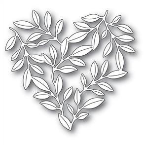 Memory Box  Die - Leafy Heart