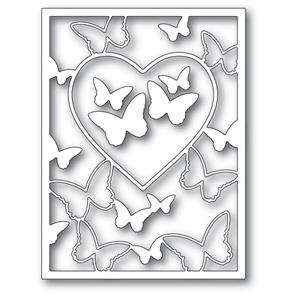 Memory Box  Die - Butterfly Heart Frame
