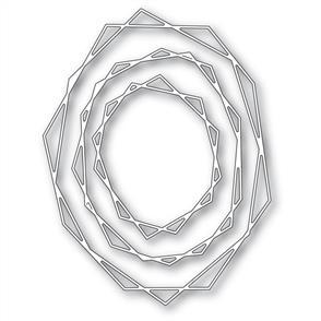 Memory Box  Die - Geodesic Oval Trio