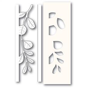 Poppystamps  Mistletoe Side Strips and Stencil - Die