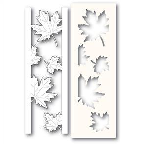 Poppystamps  Maple Leaf Side Strips and Stencil - Die