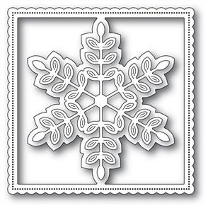 Poppystamps  Leafy Snowflake Fame - Die