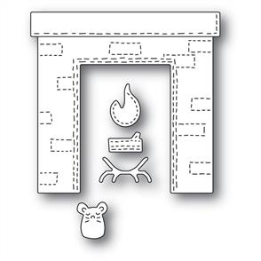 Poppystamps  Whittle Fireplace - Die