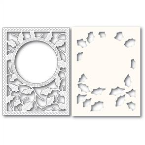 Poppystamps  Holly Frame and Stencil - Die