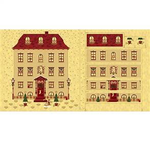 "Stof Fabric  Magic Christmas Advent 24"" Panel - Beige"