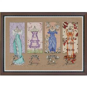 Mirabilia Cross Stitch Pattern - with Bead Kit: Dressmakers Daughter
