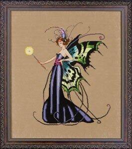 Mirabilia  Cross Stitch Chart + Bead Pack - August Peridot Fairy