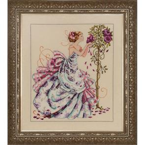Mirabilia  Cross Stitch Pattern - with Bead Kit: Roses of Provence