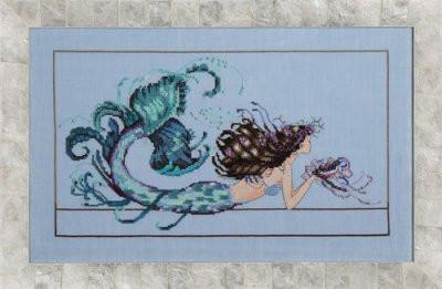 Mirabilia  Cross Stitch Chart + Bead Pack - Mermaid Undine