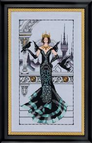 Mirabilia Cross Stitch Pattern - with Bead Kit: The Raven Queen