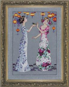 Mirabilia  Cross Stitch Pattern - with Bead Kit: The Garden Party